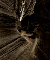 slot canyon in Tent Rocks N.M.
